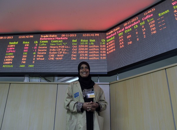Nefina is a trader at the Ethiopian Commodity Exchange, where open data means farmers and buyers can track prices of coffee in real time.  Photo: ONE